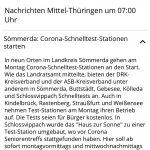 2021-03-15 mdr Corona-Schnelltest-Stationen starten