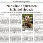 2021-08-09 Nur schöne Spürnasen in Schloßvippach